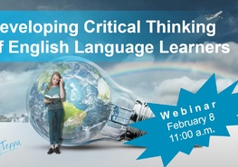 Вебінар «Developing Critical Thinking of English Language Learners»